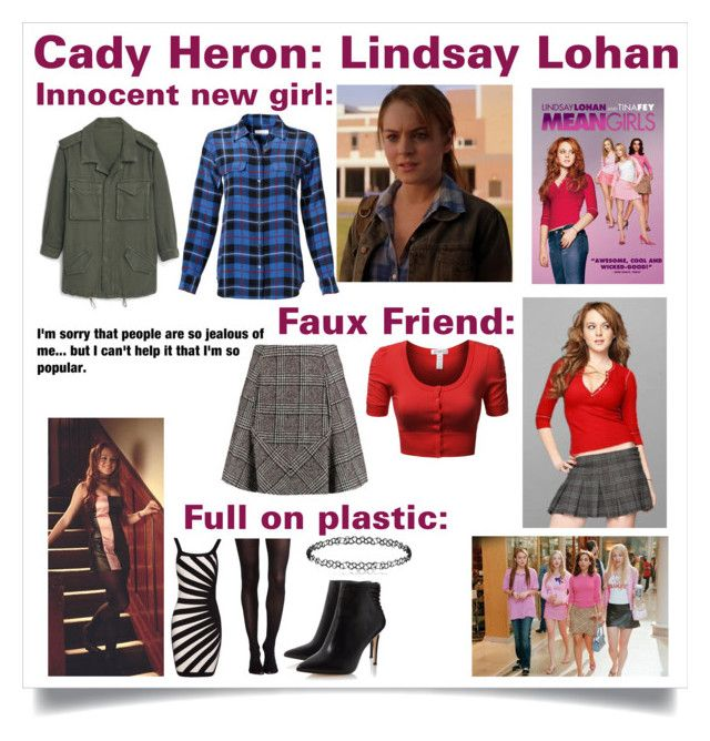 """""""Mean girls - Cady Heron (Lindsay Lohan)"""" by pandagirl1106 ❤ liked on Polyvore featuring Equipment, MANGO, J.TOMSON, Carven, SPANX, meangirls and sofetch"""
