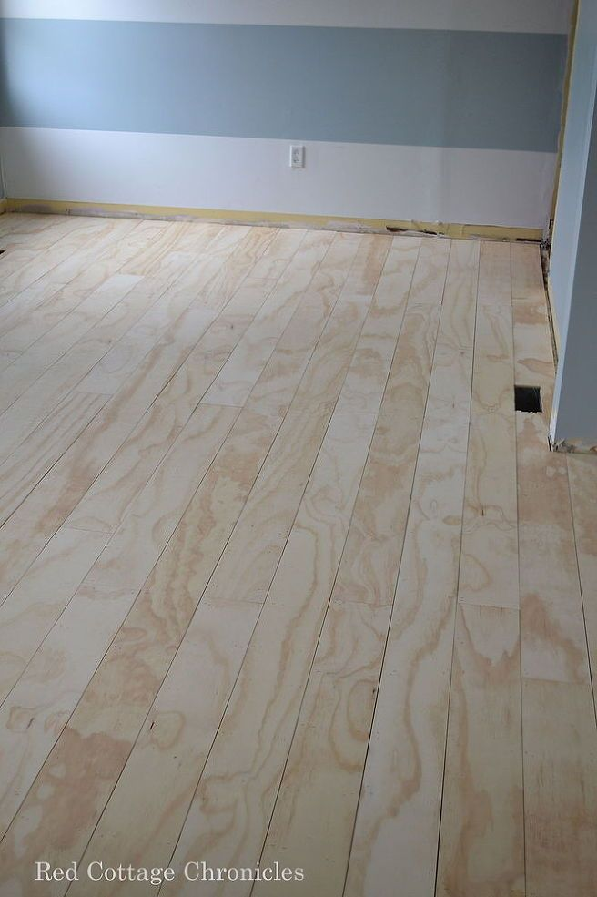 Plywood Plank Floors- for the playhouse?
