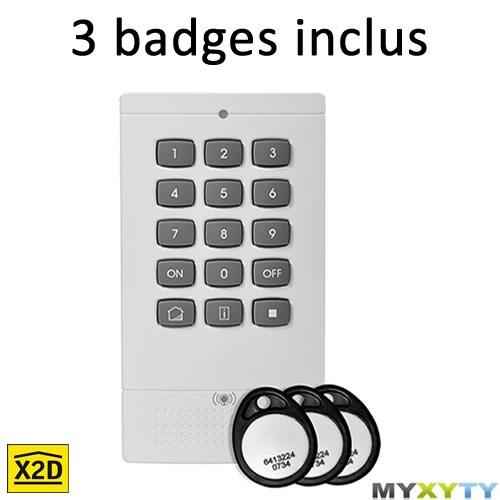 Le clavier de commande / lecteur de badges RFID Myxyty. Ne vous encombrez plus de télécommandes, un simple badge suffit ! http://www.myxyty.com/produit/clavier-commande-alarme-badge-rfid-multifonctions-sans-fil-frequence-radio-x2d