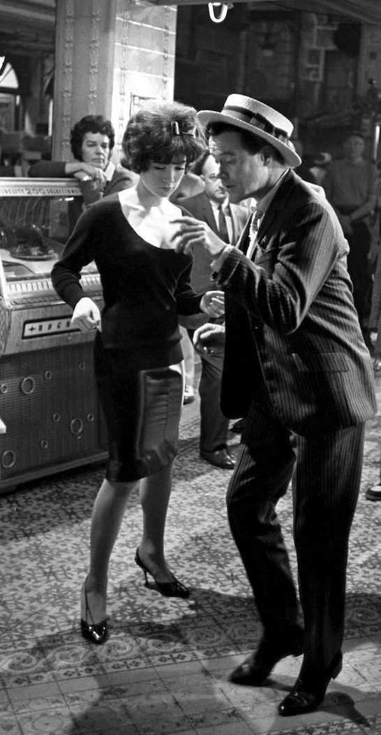 Jack Lemmon and Shirley MacLaine on the set of 'Irma La Douce'