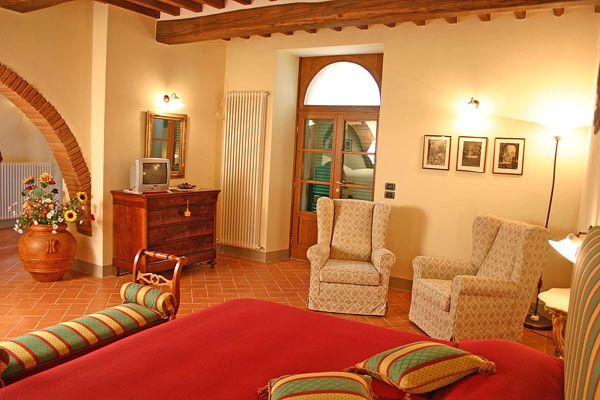 Living room in every studio, Cortona,Tuscany