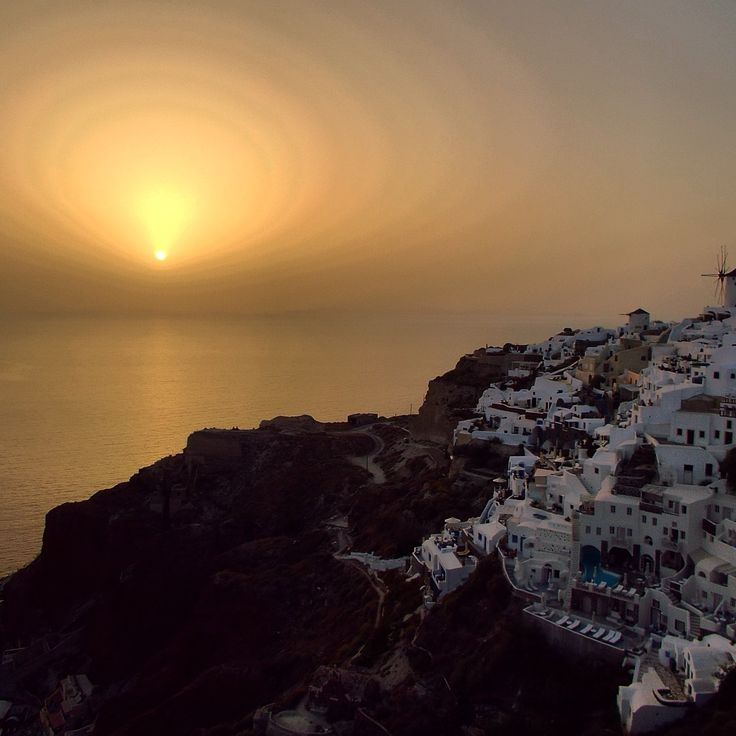 Sunset over Oia, Santorini