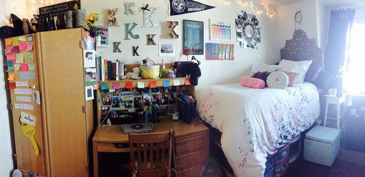My freshman dorm room at Gonzaga University.