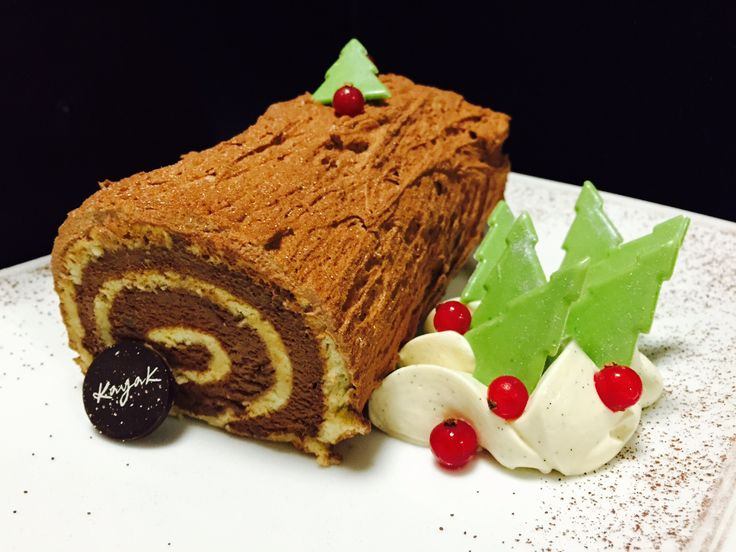 Chocolate Christmas Cake available at All Day Café boutique by KAYAK in Glyfada, Athens-Greece