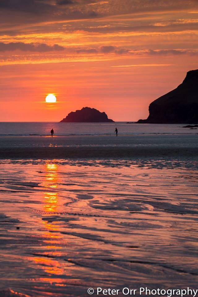 Absolutely beautiful! -  Peter Orr at Polzeath Beach Cornish Sunset