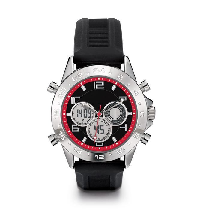 A multi-feature, flexible silicone strap watch that is both an analog and a digital watch for the busy, on-the-go man for quick reference to many time features. Regularly $44.99, shop Avon Products for Men online at http://eseagren.avonrepresentative.com