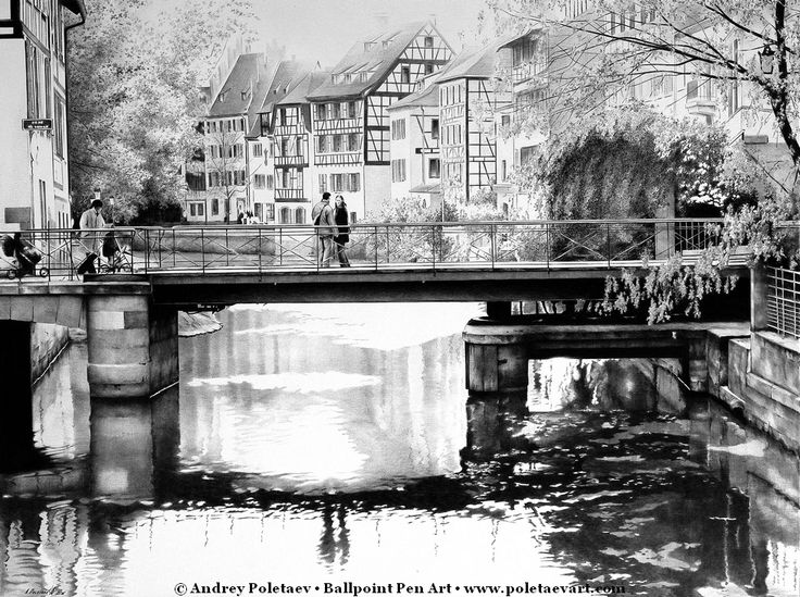 24 best ballpoint pen art images on pinterest ink pen drawings on the bridge ballpoint pen drawing from my series of cityscapes view more and gumiabroncs Image collections