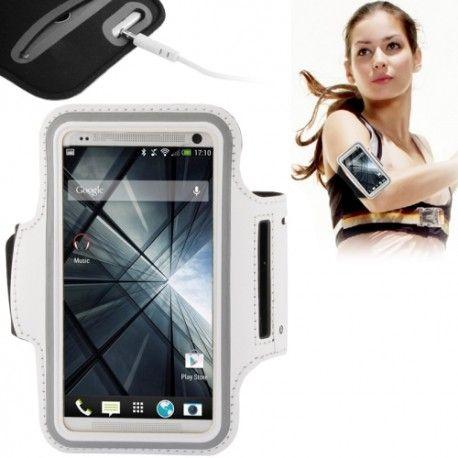 PU Sport Armband Case with Earphone Hole & Key Pocket for Samsung Galaxy S5 / i9600 / HTC One / M7 - White Model  SSSC0TWH Condition  New  Armband Samsung S5 & HTC One termurah hanya di Gudang Gadget Murah. Case ini digunakan dengan direkatkan di pergelangan tangan. Cocok untuk Anda yang suka ber-olahraga seperti jogging, bersepeda, dll. Case ini kompatibel dengan Samsung Galaxy S5 - White