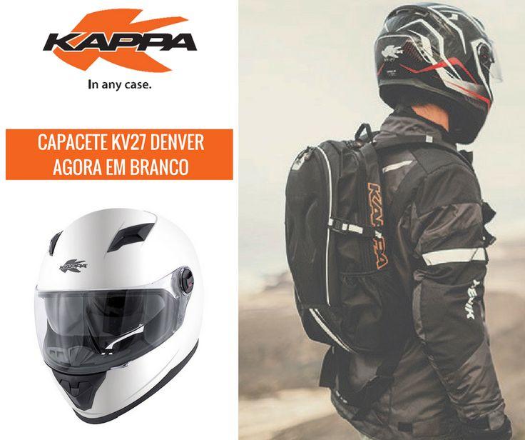KAPPA   Capacete KAPPA KV27 DENVER    Os capacetes da KAPPA KV27 DENVER em Branco já chegaram à Lusomotos. Capacete integral (full face) em material termoplástico, dedicado a um uso urbano. Equipado com: - Viseira transparente; - Viseira solar; - Revestimento interior removível e lavável. Vá já a um agente Lusomotos mais próximo de si! #lusomotos #kappa #denver #KV27 #estilodevida #capacete #integral