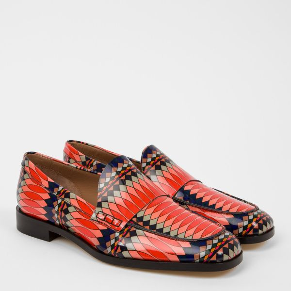 Paul Smith No.9 - Women's Multi-Coloured Patent Leather 'Hasties' Loafers
