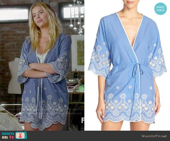 Hanna's blue embroidered robe on Pretty Little Liars
