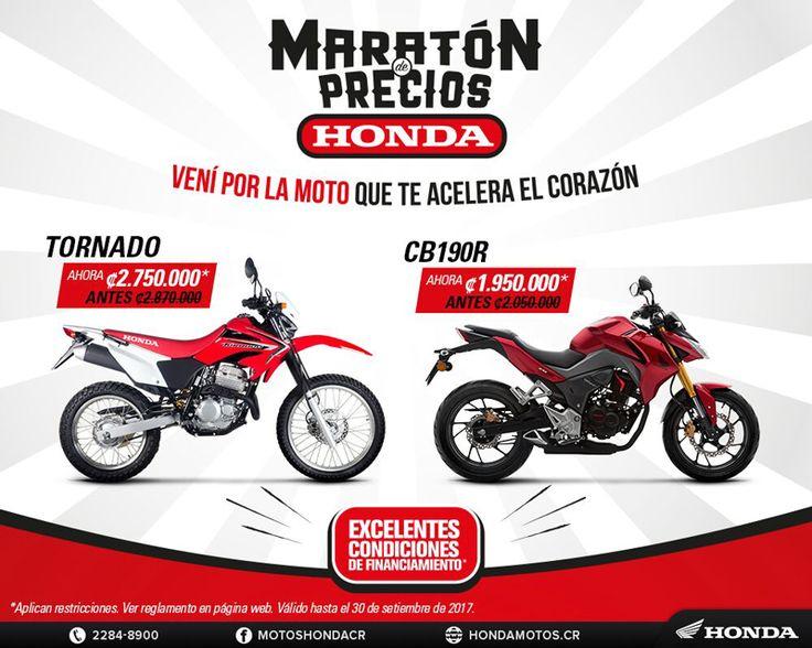 Maratón de Precios Honda -  Vení por la Moto que te Acelera el Corazón Para más Información dar clic en el botón de Visit