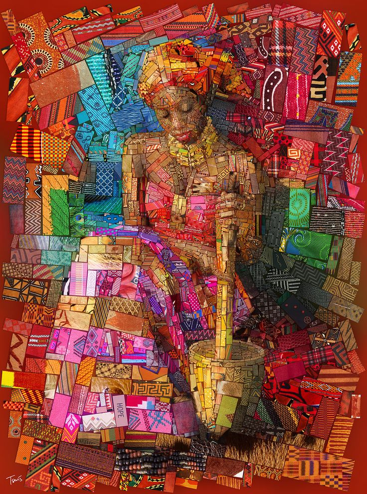 www.cewax.fr aime cet art - Charis Tsevis African bricks for Sasi's by Charis Tsevis - Art People Gallery