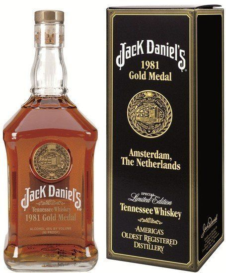 Catawiki online auction house: Jack Daniels - Gold Medal 1981 Amsterdam ( liter )
