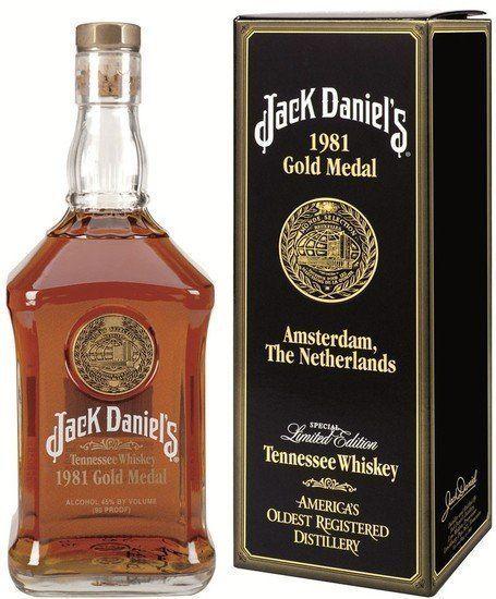 Catawiki online auction house: Jack Daniels - Gold Medal 1981 Amsterdam ( liter )