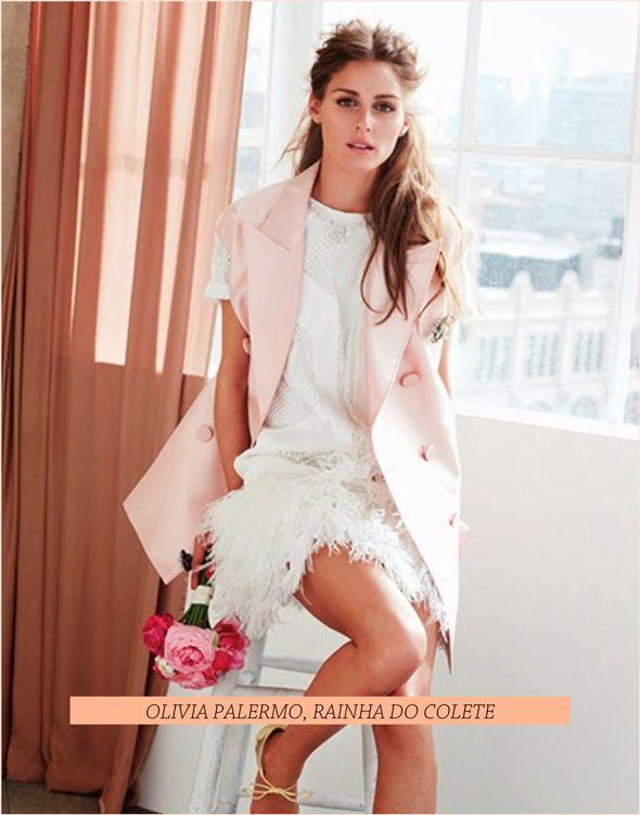 Como usar colete, segundo Olivia Palermo - Fashionismo