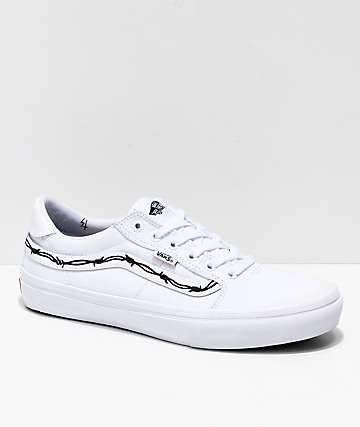 075efe4f92 Vans x Sketchy Tank Style 112 Pro Reflective White   Black Skate Shoes