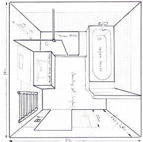 Salle de bain de 6m2 baignoire douche wc recherche google home decor salle de bains douche - Salle de bain 6m2 ...