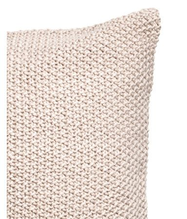 Moss-knit Cushion Cover | Light beige | H&M HOME | H&M US 20x20 $24.99