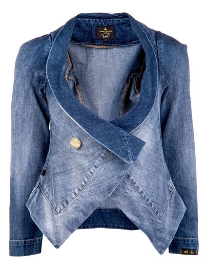 VIVIENNE WESTWOOD ANGLOMANIA  Fitted Denim Jacket http://www.alilevinedesign.com/category/social-media/trendstues/