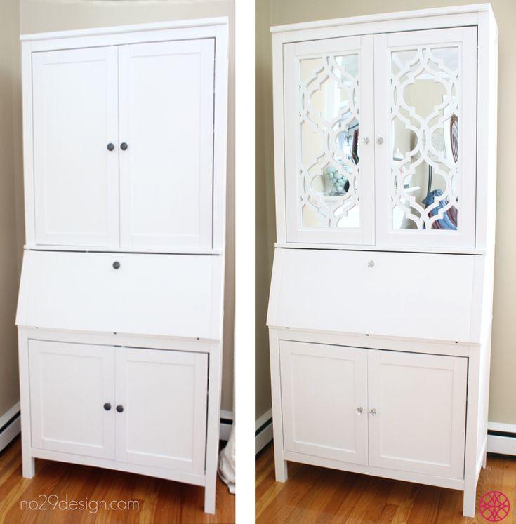 Beautiful Creation With O 39 Verlays Khloe And Ikea Hemnes Secretary Desk And Mirror My O 39 Verlays