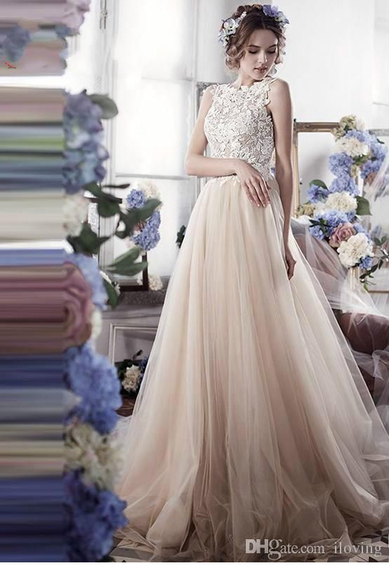 Sexy Lace Wedding Dresses Vintage Cute Romantic Empiretulle Backless Wedding Gowns Robe De Mariage 2016 Casamento Bride Dresses Debenhams Wedding Dresses Dresses For A Wedding From Iloving, $135.68| Dhgate.Com