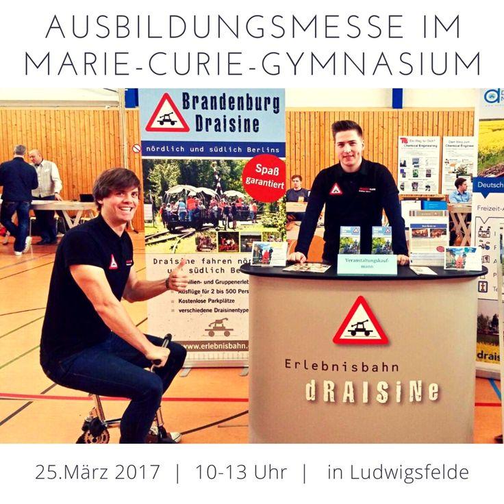 Marcus und Philiipp stehen euch heute bis 13:00 Uhr auf der Ausbildungsmesse im Marie-Curie-Gymnasium Ludwigsfelde noch für Fragen rund um die Ausbildung zum Veranstaltungskaufmann/-frau zur Verfügung.