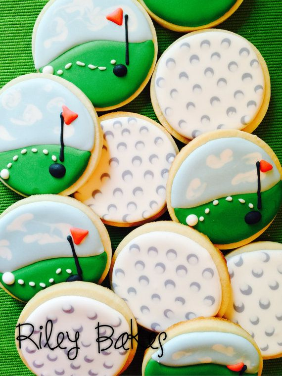 Custom Decorated Golf Themed Golf Ball Golf Course by RileyBakes