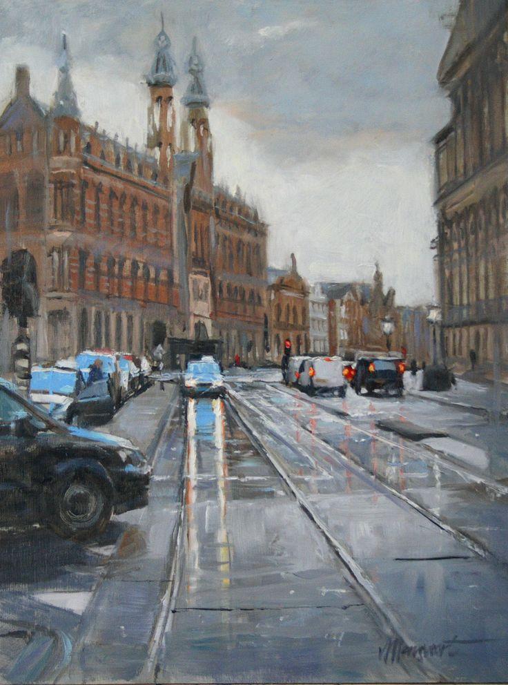 Achter de Dam | oil on linen painting by Richard van Mensvoort
