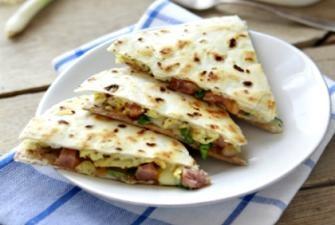 Breakfast Ham Quesadilla Recipe | RECIPE CORNER