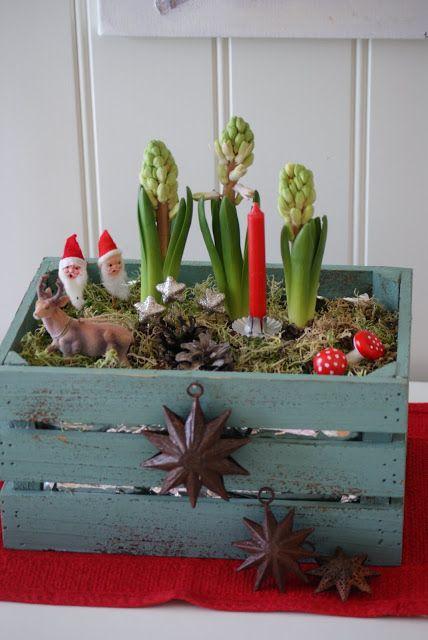 Christmas Figurine Planter | 51 Hopelessly Adorable DIY Christmas Decorations