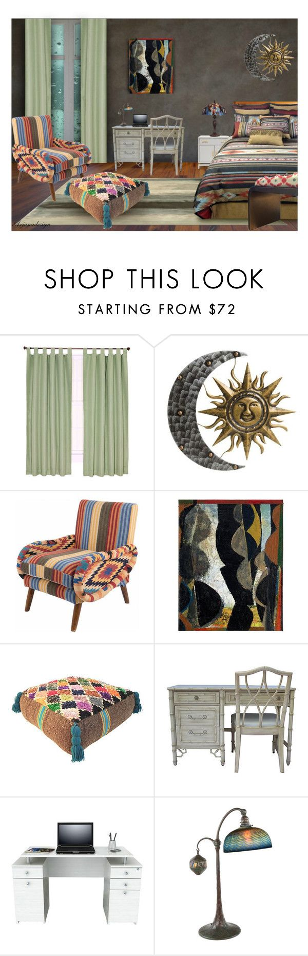 aztec bedroom by arjanadesign liked on polyvore featuring interior interiors interior