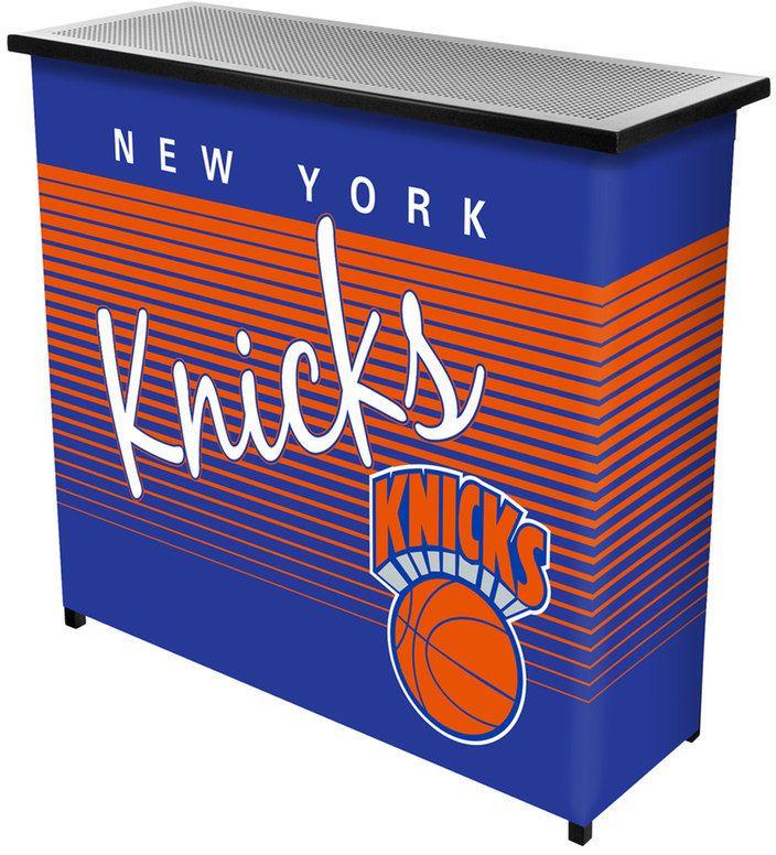NBA New York Knicks Hardwood Classics 2-Shelf Portable Bar with Case
