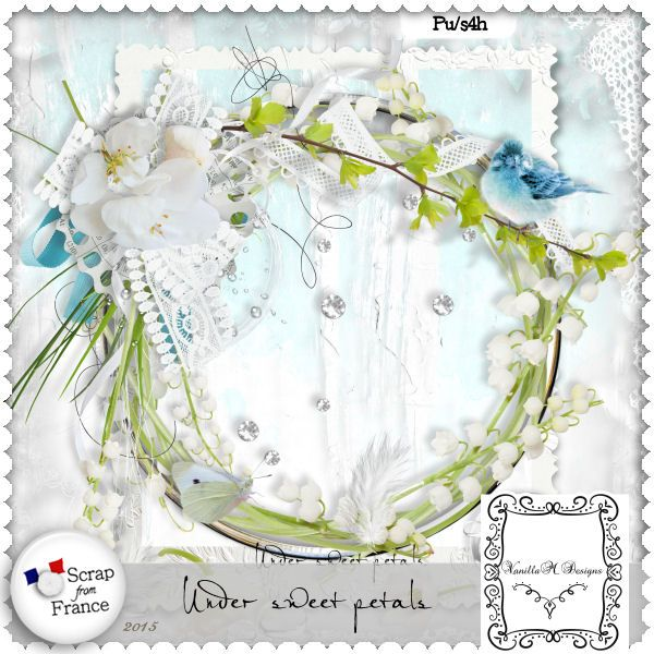 Under sweet petals by VanillaM Designs at ScrapFromFrance - 2015 #freebie #scrap