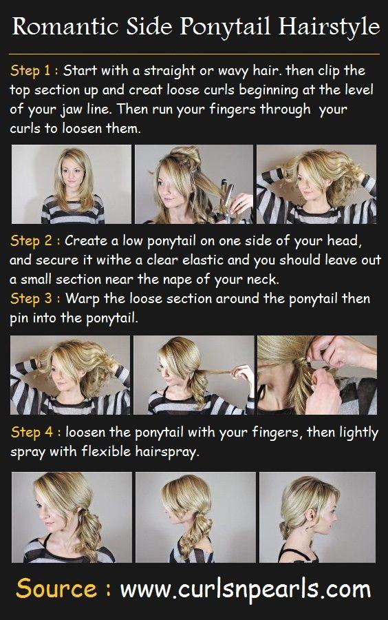 Romantic Side Ponytail Hair Tutorial | Beauty Tutorials