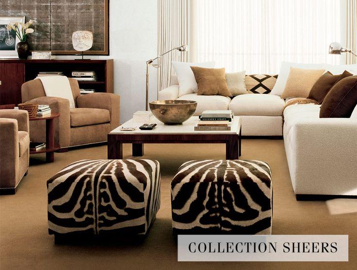 Maybe Zebra Ottoman Fabric