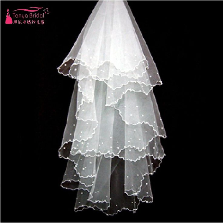 Find More Bridal Veils Information about Real photos Beadings Ivory Wedding Veils Free Shipping Bridal Veil wedding accessories veu de noiva,High Quality bead making accessories,China bead needle Suppliers, Cheap beaded corset wedding dress from Tanya Bridal Store on Aliexpress.com