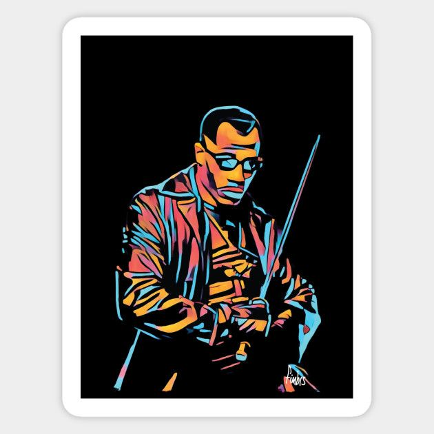 Daywalker sticker by Fimbis   ------------------------  Blade, Vampires, Wesley Snipes, Comic book heroes, illustration, anti hero, neon, stickers,