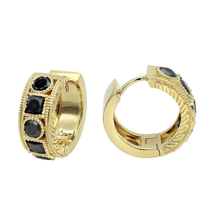 Best 25+ Small diamond hoop earrings ideas on Pinterest ...