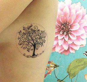 30 Fotos de Tatuagens de Árvores Masculinas/Femininas