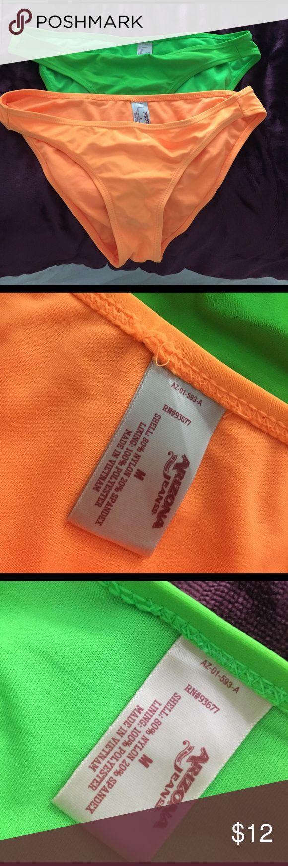 Bikini bottoms Never worn, green and orange bikini bottoms Arizona Jean Company Swim Bikinis