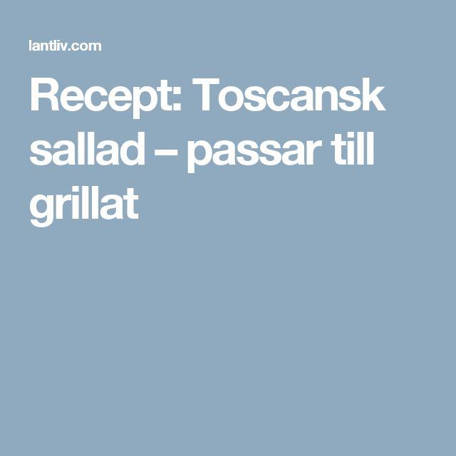 Recept: Toscansk sallad – passar till grillat