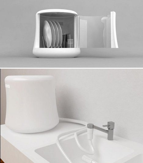 Countertop Dishwasher Water Supply : dishes, the Mono dishwasher sits on the countertop and extends water ...