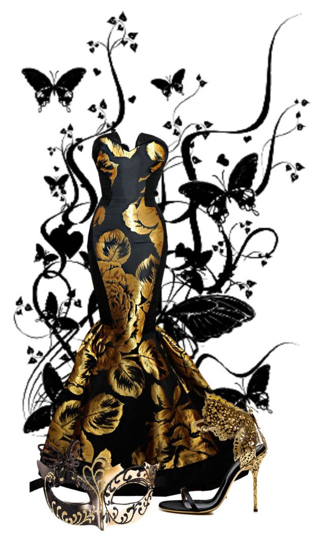 Black and Gold Butterfly Masquerade   Party Ideas ...