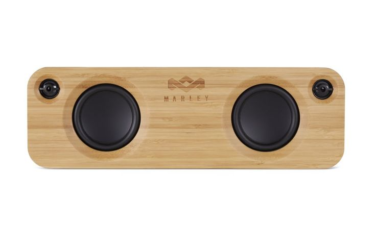 House of Marley EM-JA006SB Get Together. 3.5 inch high-output woofers deliver strong output that will fill any room, while the 1 inch tweeters ensure all the details stay crisp and clear. At home or on-the-go, quick pairing connectivity allows you to connect via Bluetooth from hundreds of devices for superior portability. 3.5mm stereo Audio input for non-bluetooth devices. Exclusive rewind fabric covering, and Bamboo front baffle and rear trim. Rechargeable battery Lasts for up to 8 hours…