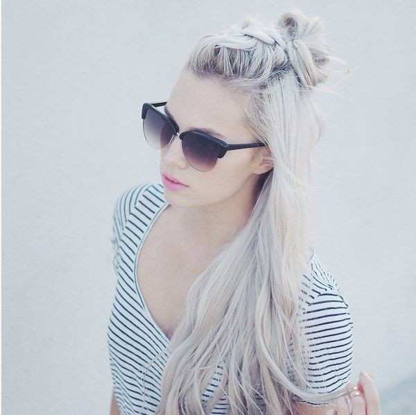 Amazing platinum hair