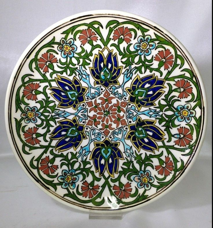 Vintage Antique Turkish Ottoman Hand Painted Kutahya Plate | eBay