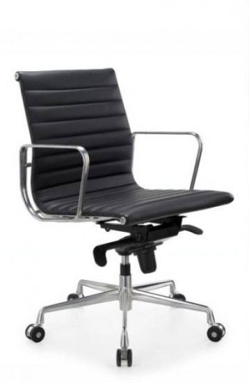 The Contempo Mid Back features a contoured sewn detailed vinyl seat and back, alloy body frame and fixed alloy arms with an alloy 5-star base #seated #officechair #budget #design seated.com.au