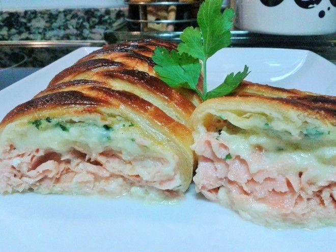 Salmón en Hojaldre - Minu Cocina