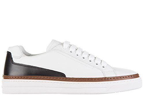 Prada Herrenschuhe Herren Leder Schuhe Sneakers nevada calf Weiß - http://on-line-kaufen.de/prada/prada-herrenschuhe-herren-leder-schuhe-sneakers